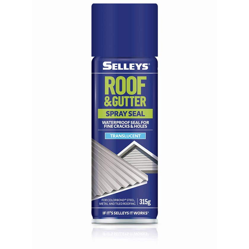Selleys Roof & Gutter Silicone Spray Seal Translucent 315g