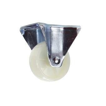 Cold Steel Nylon Fixed Castor White 63mm