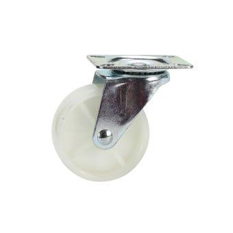Cold Steel Nylon Swivel Castor White 75mm