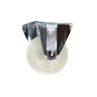 Cold Steel Nylon Fixed Castor White 75mm
