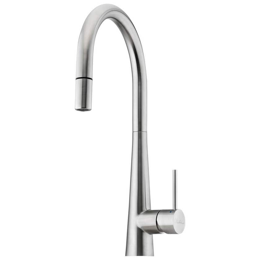 Oliveri Essente Stainless Steel Pull Out Goose Neck Mixer