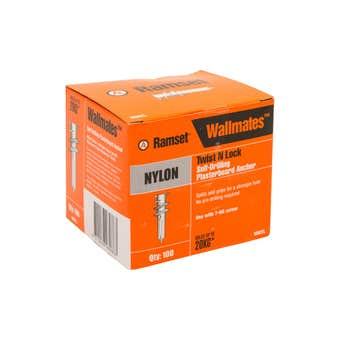 Ramset WallMate Twist-N-Lock Nylon  20kg - 100 Pack