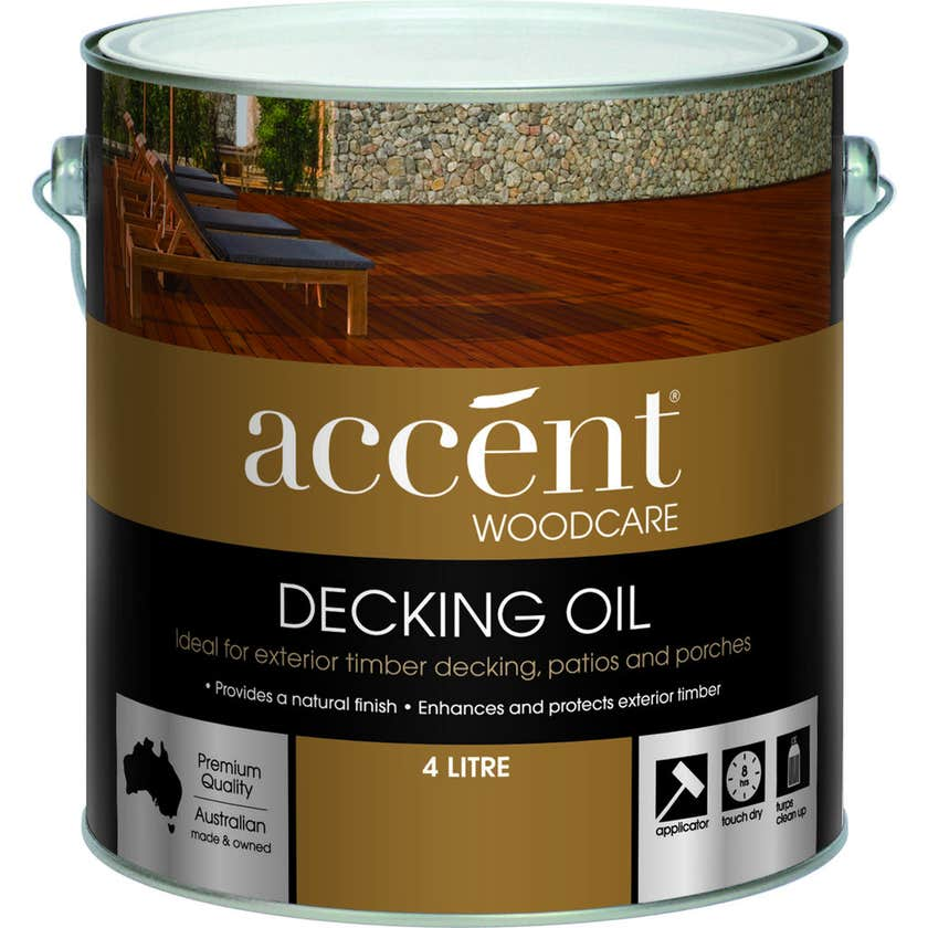 Accent Oil Based Decking Oil Natural 4L