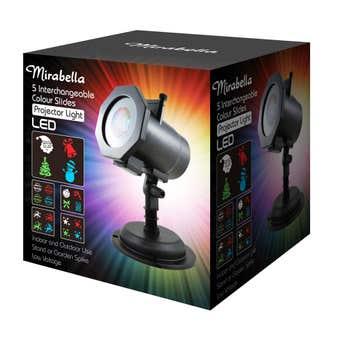 Mirabella 5 Slide LED Christmas Projector