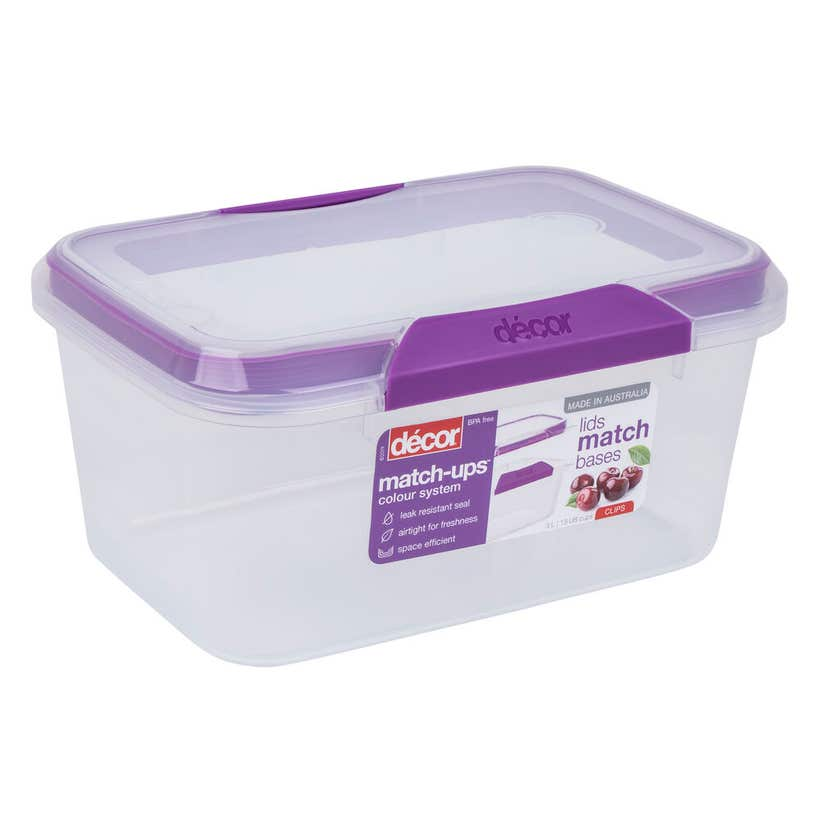 Décor Container Oblong Match-ups Clips 3L