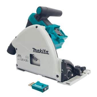 Makita 36V (18V x 2) Brushless Plunge Cut Circular Saw 165mm Skin