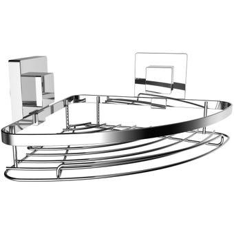 Elite Suction Mounted Corner Basket
