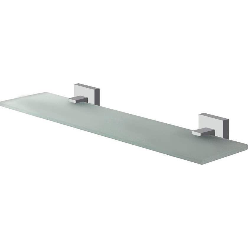 Mixx Glass Shelf Square Chrome