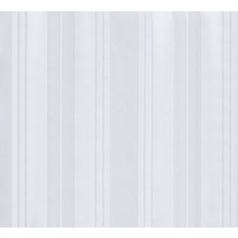 Supertex Jacquard Shower Curtain Stripe White