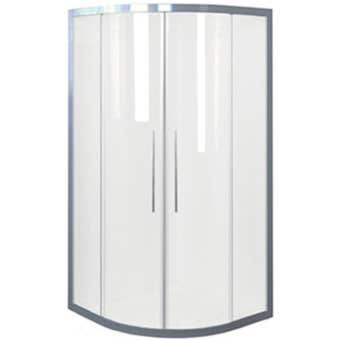 Johnson Suisse Daintree Curved Shower Screen Set Chrome 914 x 914mm