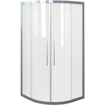 Johnson Suisse Daintree Curved Shower Screen Set Chrome 1000 x 1000mm