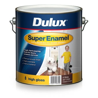 Dulux Super Enamel High Gloss Mission Brown 4L