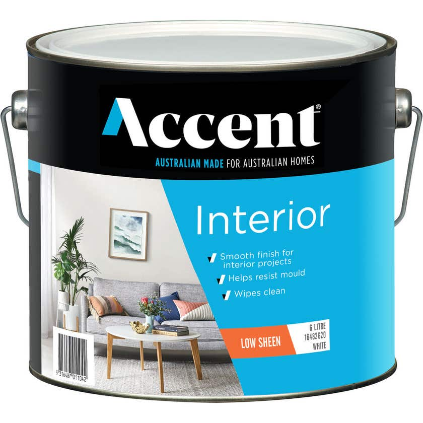 Accent Interior Low Sheen White 6L