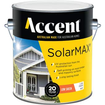 Accent SolarMAX Exterior Low Sheen White 2L