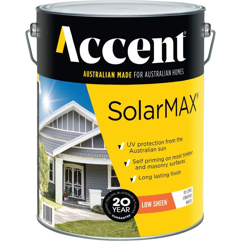 Accent SolarMAX Exterior Low Sheen White 10L