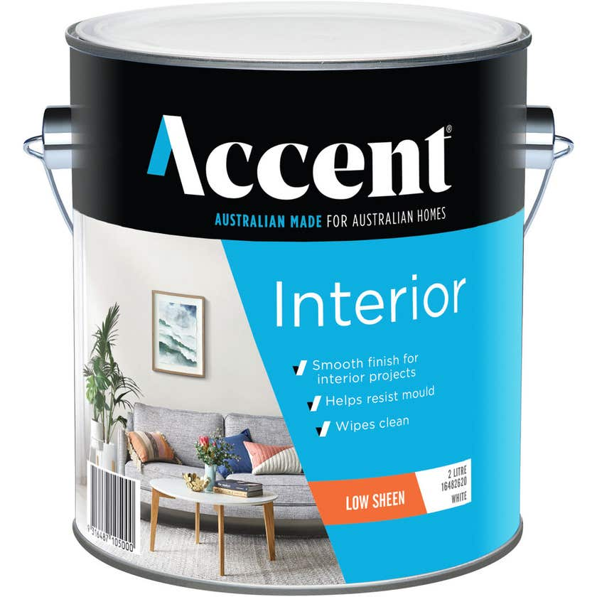 Accent Interior Low Sheen White 2L