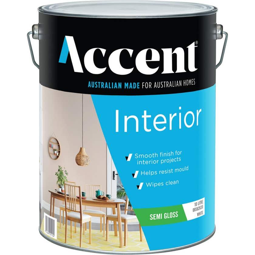Accent Interior Semi Gloss White 10L