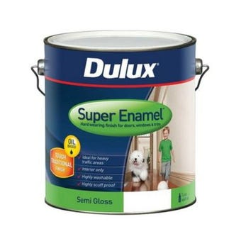 Dulux Super Enamel Semi Gloss Vivid White 2L