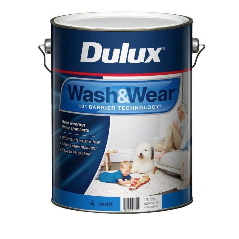 Dulux Wash & Wear Interior Matt Vivid White 10L