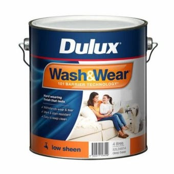 Dulux Wash & Wear Interior Low Sheen Deep Base 4L