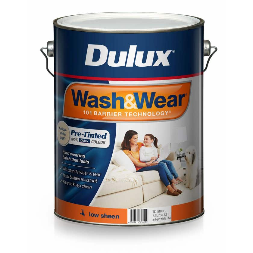 Dulux Wash & Wear Pre-Tinted Low Sheen Antique White USA