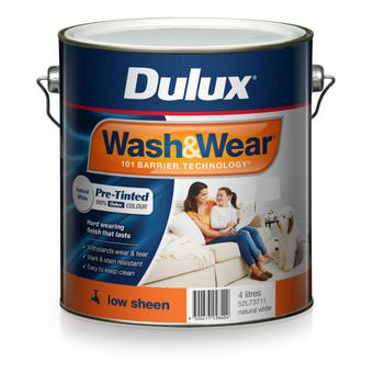 Dulux Wash & Wear Pre-Tinted Low Sheen Natural White