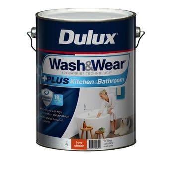 Dulux Wash & Wear +Plus Kitchen & Bathroom Low Sheen Vivid White 10