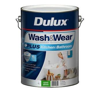 Dulux Wash & Wear +Plus Kitchen & Bathroom Semi Gloss Vivid White 10