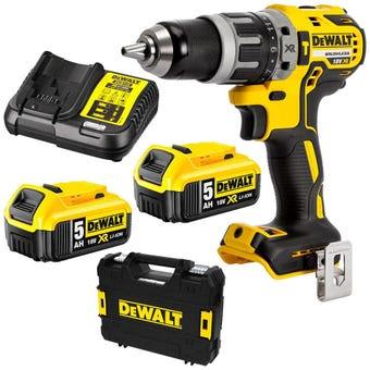 DeWALT 18V 5.0Ah XR Li-Ion Cordless Brushless Hammer Drill Combo Kit DCD796P2-XE
