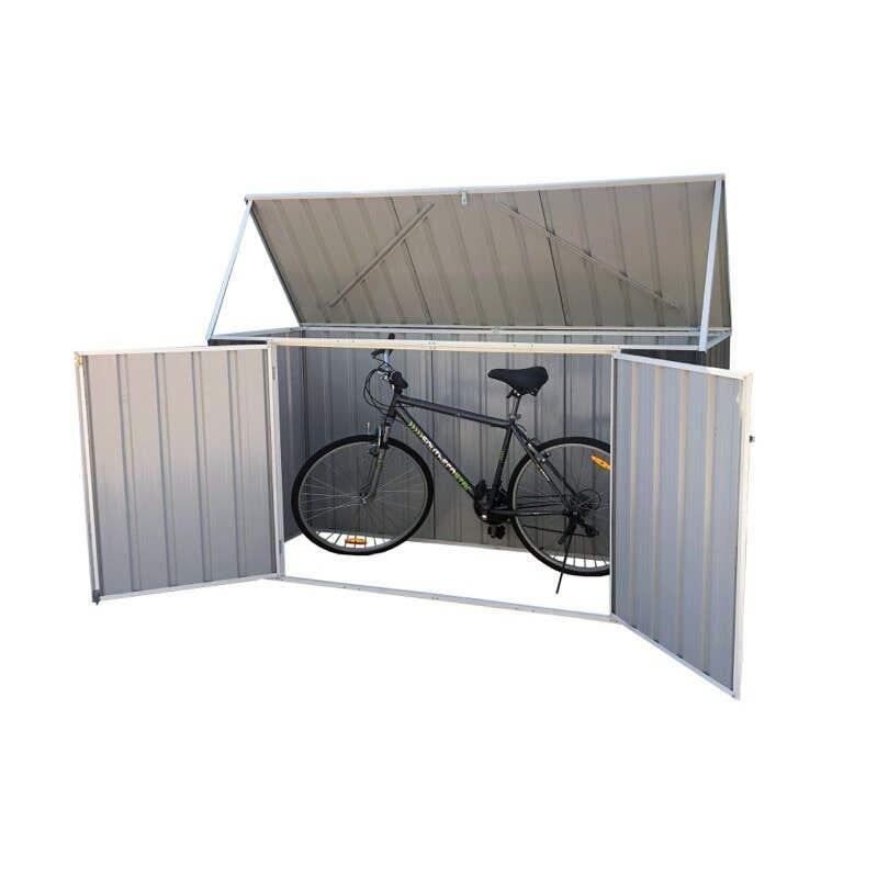 Earthcore Bike Shed Woodland Grey 2.25 x 0.78 x 1.15m
