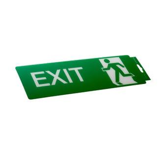 Sandleford Exit Straight Self Adhesive Sign
