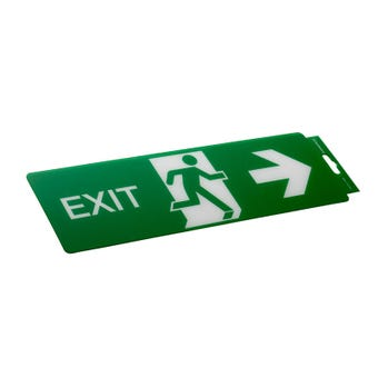 Sandleford Exit Right Self Adhesive Sign