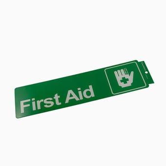Sandleford First Aid Self Adhesive Sign