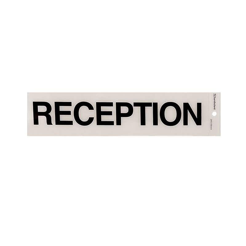 Sandleford Reception Self Adhesive Sign