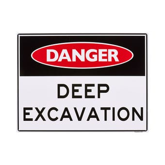 Sandleford Deep Excavation Sign