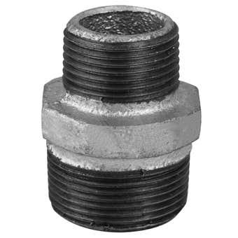 Brasshards Nipple Hexagon Reducing Galvanised 25mm x 20mm
