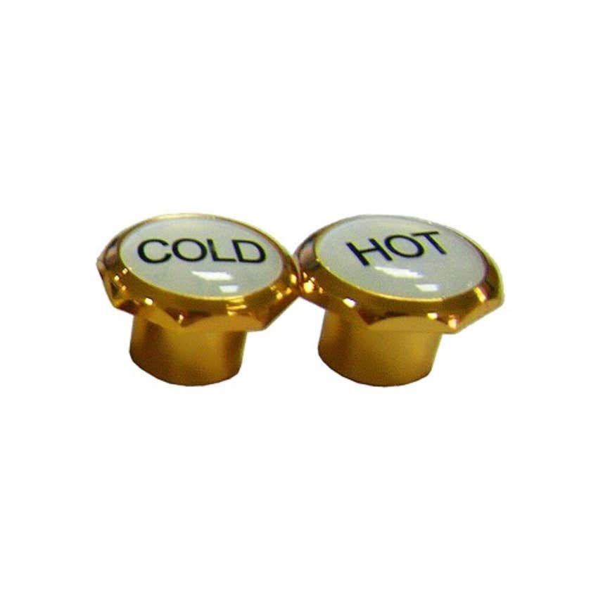 Mildon Deluxe Tap Handle Button Hot & Cold Gold
