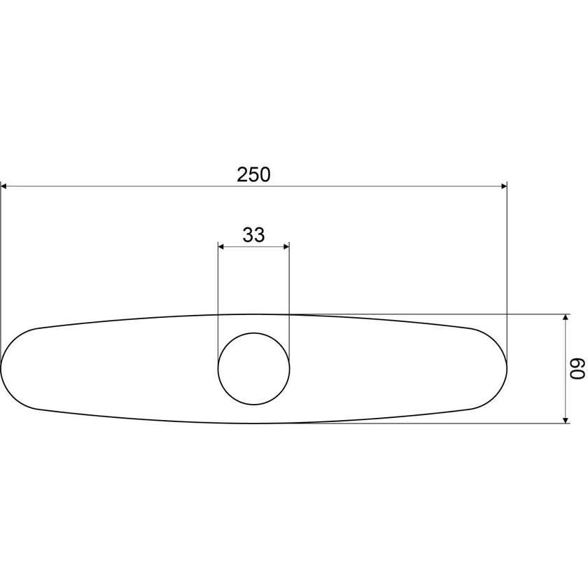 Mildon Plate Cover 3 Hole 250 x 60mm Chrome