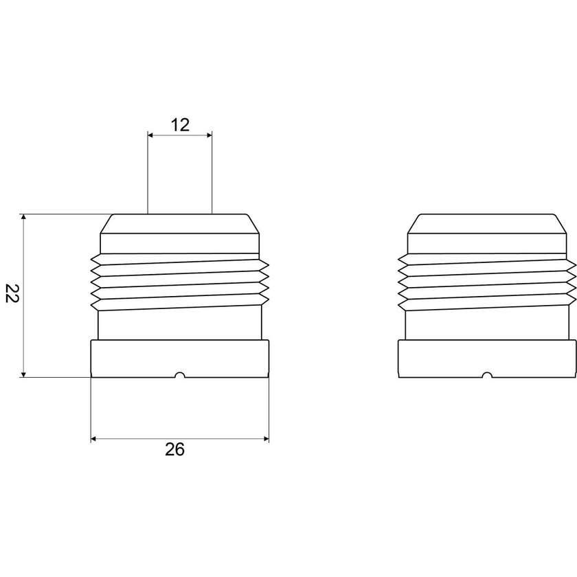 Mildon Plastic Heat Barrier Pair - Suits Paramount Wall Bells