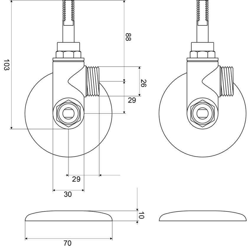Mildon Washing Machine Conversion Kit - Right Hand Chrome