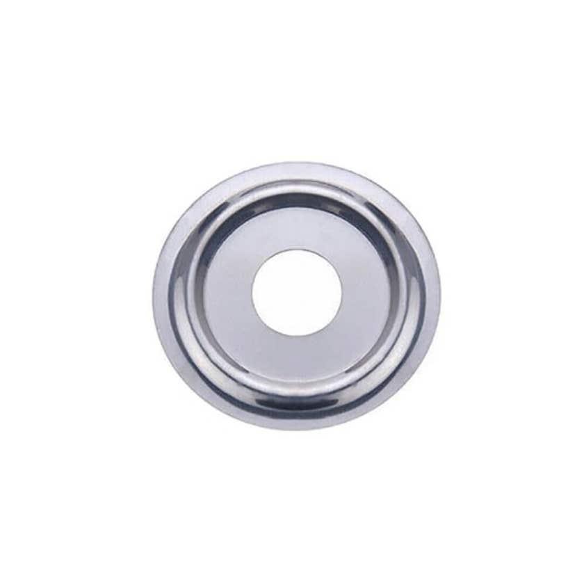 Mildon Cover Plate 15mm BSP Flat Chrome Trade