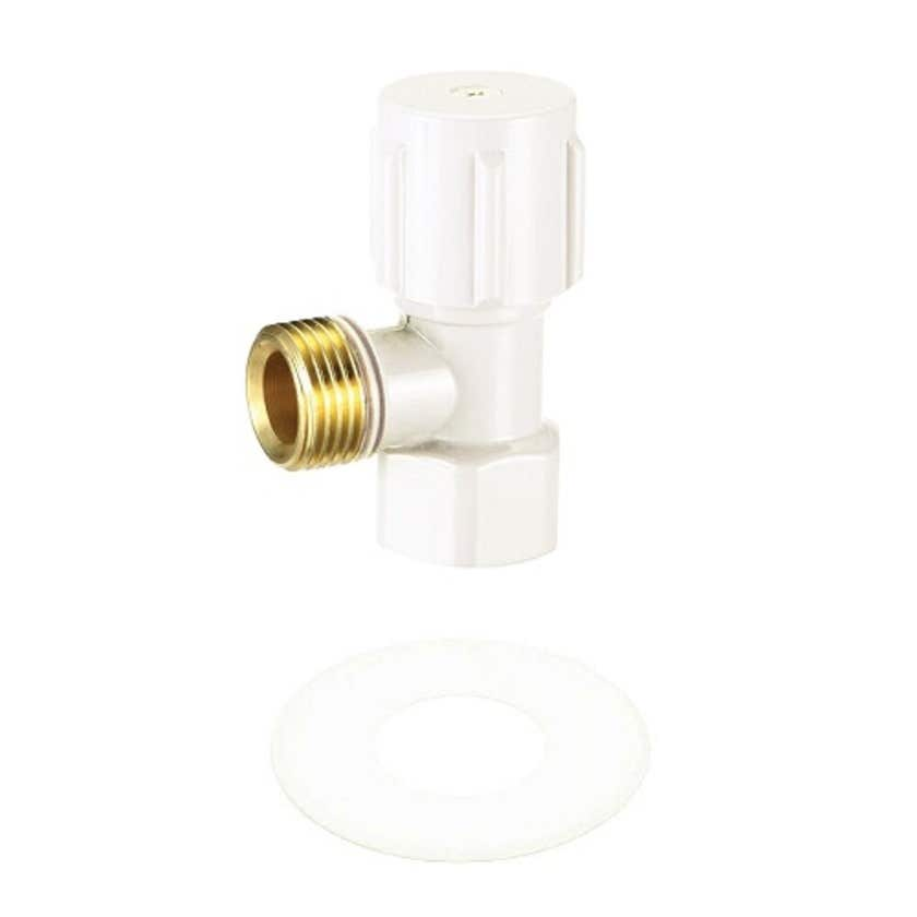 "Mildon Mini Cistern Cock 1/2"" (15mm) White"