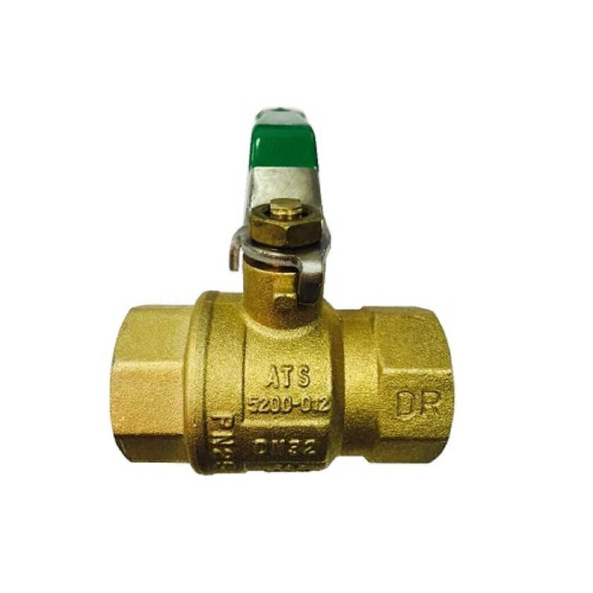 """Mildon Dual Ball Valve Tested Gas & Water 3/4"""" (20mm) Green Handle Rough Brass"""