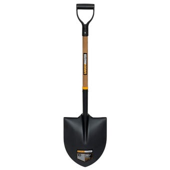 Gardenmaster Short Timber D Handle Round Mouth Shovel