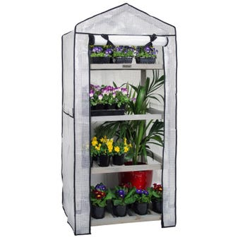 VegTrug Nursery Plant Stand with Greenhouse Cover