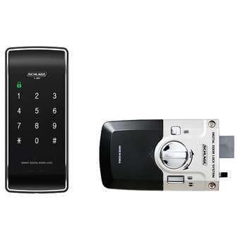 Schlage S-480 Digital Touchpad Rim Lock Black