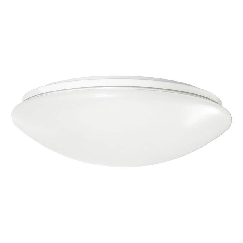 HPM Atis Led Non Dimmable Oyster Light Cool White Finish 17W