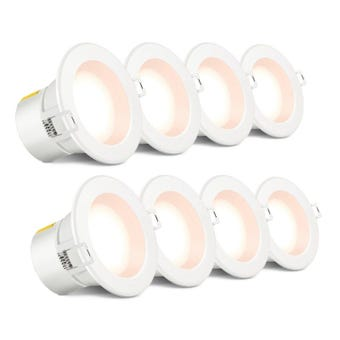 HPM DLI 7W Led Downlight Warm White 90mm - 8 Pack
