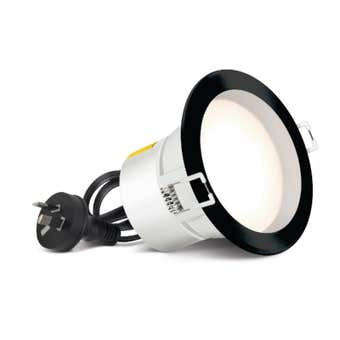 HPM DLI LED Downlight Cool White Black 7W 90mm