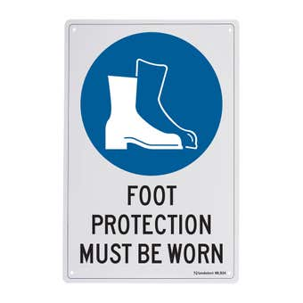 Sandleford Foot Protection Must Be Worn Sign